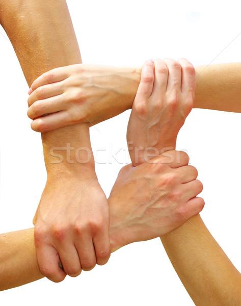 linked hands Stock photo © Pakhnyushchyy