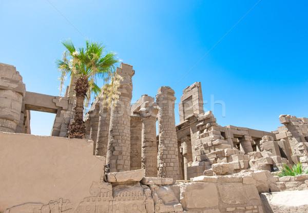 Afrika luxor tempel gebouw muur Blauw Stockfoto © Pakhnyushchyy