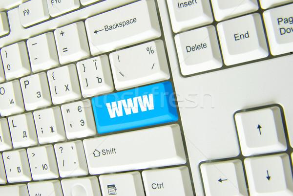 WWW számítógép billentyűzet kék internet kulcs üzlet Stock fotó © Pakhnyushchyy