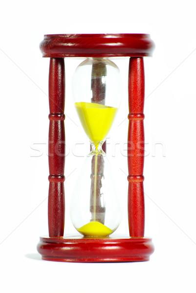 песок часы золото белый древесины Сток-фото © Pakhnyushchyy