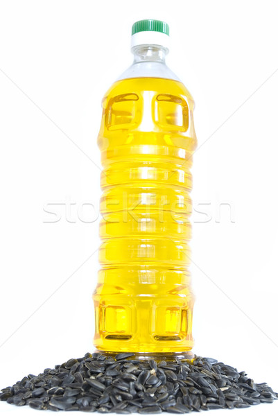 Napraforgóolaj napraforgó magok olaj kövér fehér Stock fotó © Pakhnyushchyy