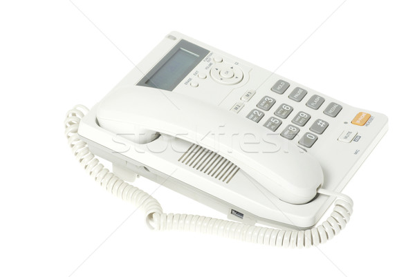 white telephone  Stock photo © Pakhnyushchyy