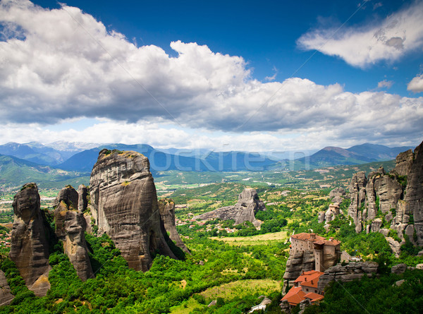 rock in Meteora, Greece Stock photo © Pakhnyushchyy
