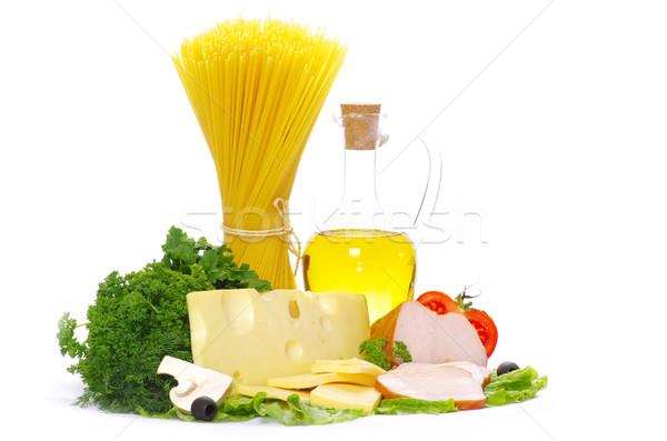 Ingrédients pâtes cuisson italien blanche alimentaire Photo stock © Pakhnyushchyy