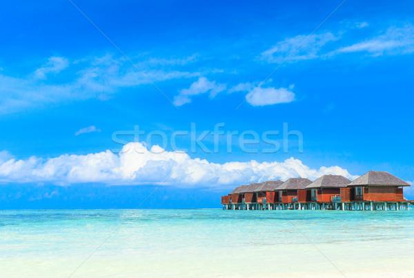 Plaj su gökyüzü doğa manzara deniz Stok fotoğraf © Pakhnyushchyy