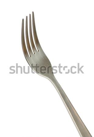 Vork diner geïsoleerd witte keuken staal Stockfoto © Pakhnyushchyy