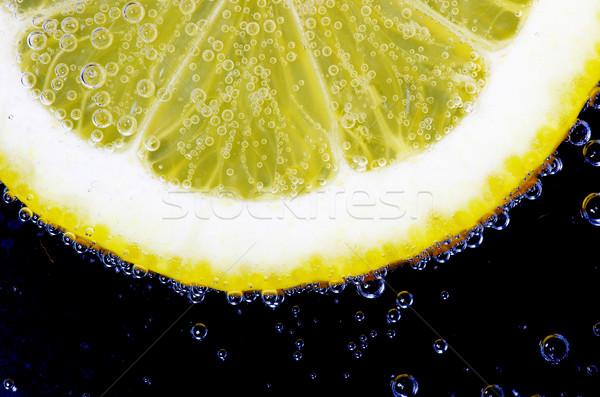 lemon slice with bubbles Stock photo © Pakhnyushchyy