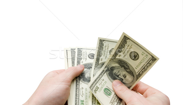 dollars in hand  Stock photo © Pakhnyushchyy