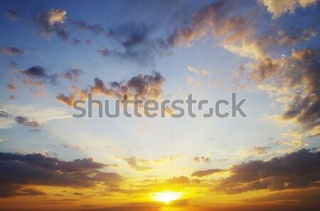 clouds and sun Stock photo © Pakhnyushchyy