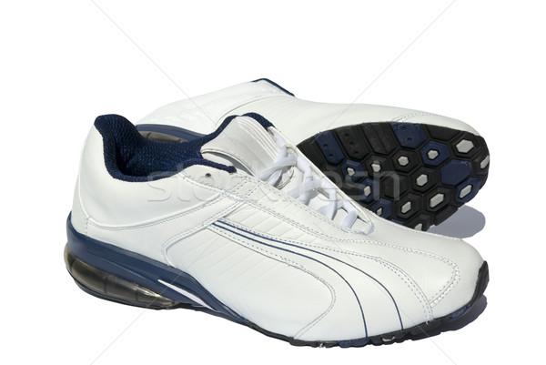 Futócipők pár fehér tornaterem cipők képzés Stock fotó © Pakhnyushchyy