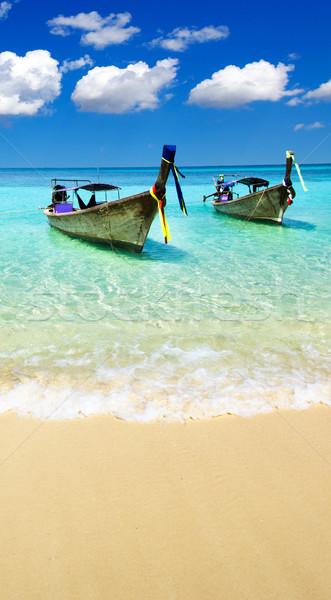 海 美しい ビーチ 熱帯 水 背景 ストックフォト © Pakhnyushchyy