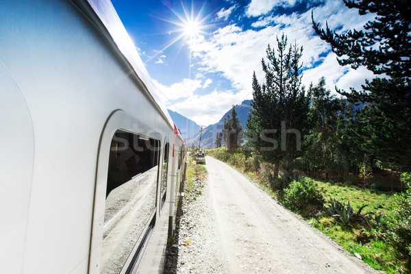 Rail tren viaje turísticos turismo gira Foto stock © Pakhnyushchyy