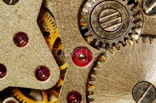 Saat mekanizma eski Metal endüstriyel Stok fotoğraf © Pakhnyushchyy
