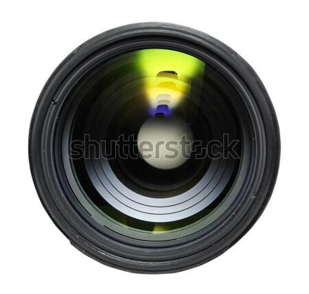 Kameralencse fekete izolált fehér technológia üveg Stock fotó © Pakhnyushchyy