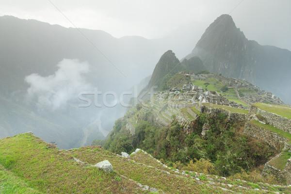 Ciel ville forêt paysage Rock architecture Photo stock © Pakhnyushchyy