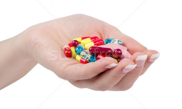hand holds pill  Stock photo © Pakhnyushchyy