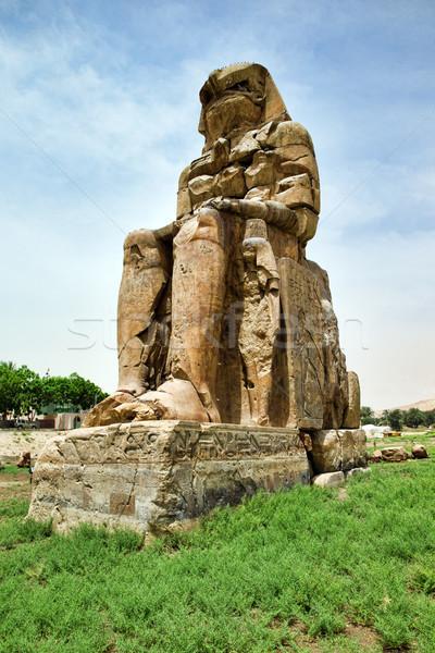 colossi of memnon gigantic statues in Luxor Egypt Stock photo © Pakhnyushchyy