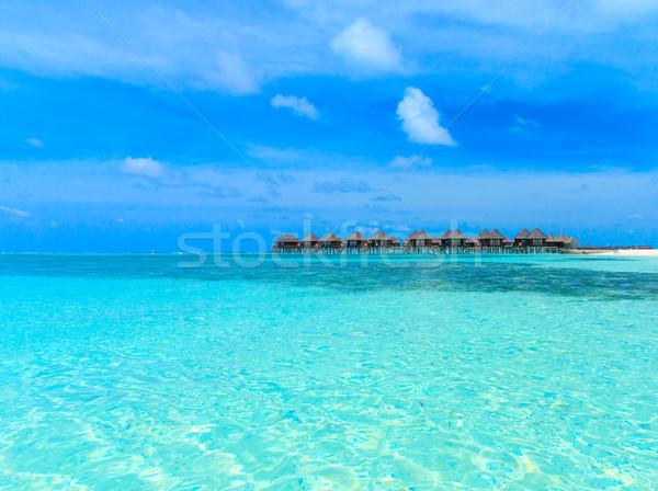 Plaj su gökyüzü doğa deniz yaz Stok fotoğraf © Pakhnyushchyy