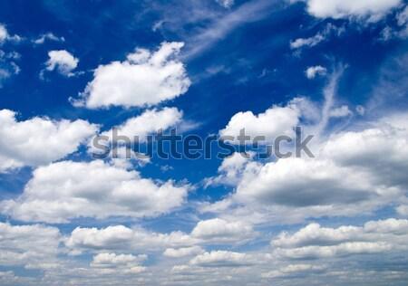 Hemel blauwe hemel wolken zomer Blauw Stockfoto © Pakhnyushchyy