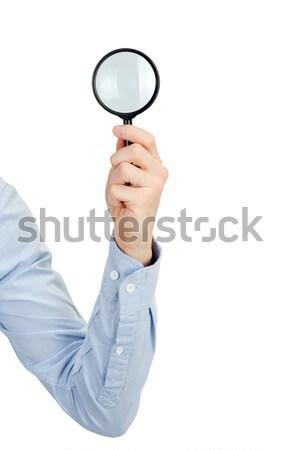 hand holding magnifying glass Stock photo © Pakhnyushchyy