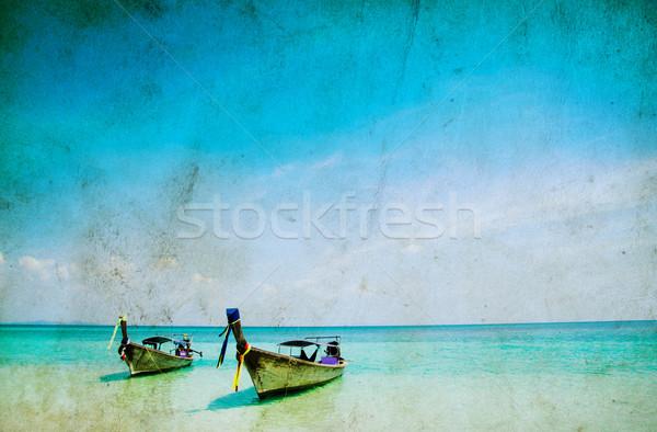 Tropikalnej plaży morza Tajlandia niebo chmury ocean Zdjęcia stock © Pakhnyushchyy