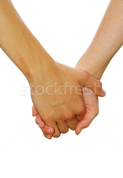 Mano bianco mani amore Coppia care Foto d'archivio © Pakhnyushchyy