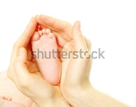 Baba láb újszülött izolált fehér lány Stock fotó © Pakhnyushchyy