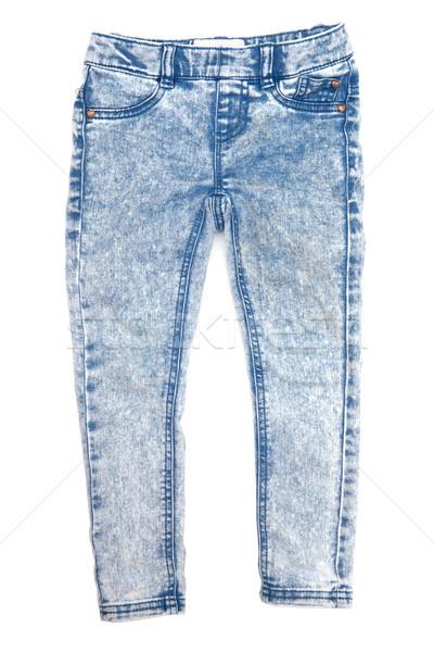 Jeans geïsoleerd witte doek pants Stockfoto © Pakhnyushchyy