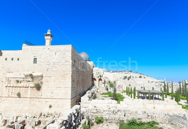 Ancient ruins in the center of Jerusalem, Israel Stock photo © Pakhnyushchyy