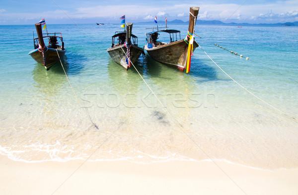 Mare spiaggia tropicale barche Thailandia cielo Ocean Foto d'archivio © Pakhnyushchyy