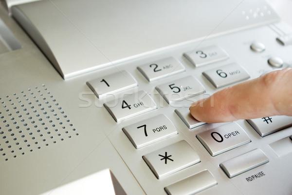 finger with  keypad Stock photo © Pakhnyushchyy