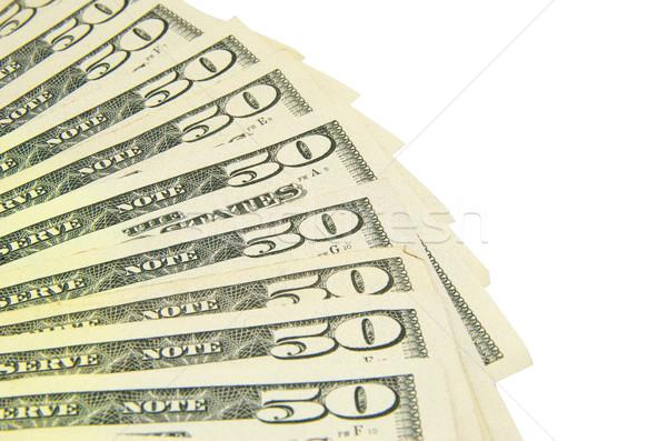 ötven dollár dollár bankjegyek izolált fehér papír Stock fotó © Pakhnyushchyy