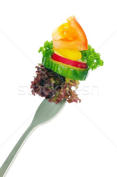 food on a fork  Stock photo © Pakhnyushchyy