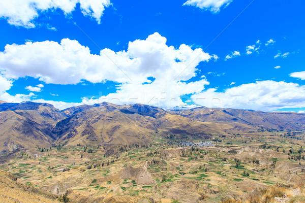 Manzara doğa çapraz güzellik dağ yeşil Stok fotoğraf © Pakhnyushchyy
