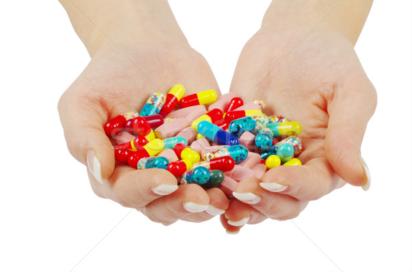 hands holds pills Stock photo © Pakhnyushchyy