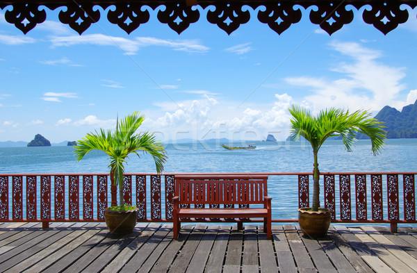 Krabi Tailandia hermosa tropicales mar cielo Foto stock © Pakhnyushchyy