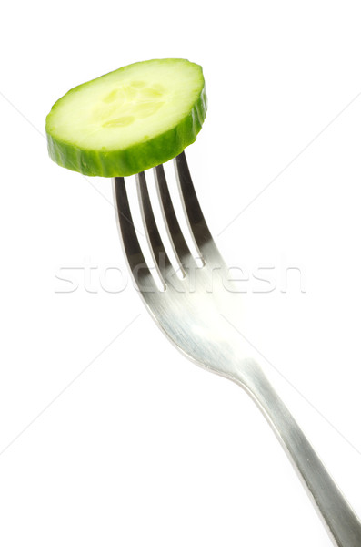 cucumber on fork Stock fotó © Pakhnyushchyy
