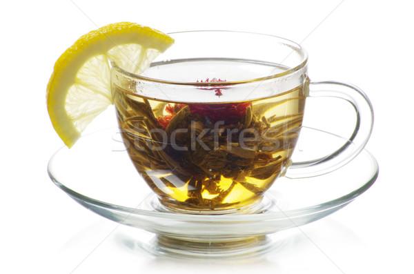 茶 茶碗 孤立した 白 緑 ドリンク ストックフォト © Pakhnyushchyy