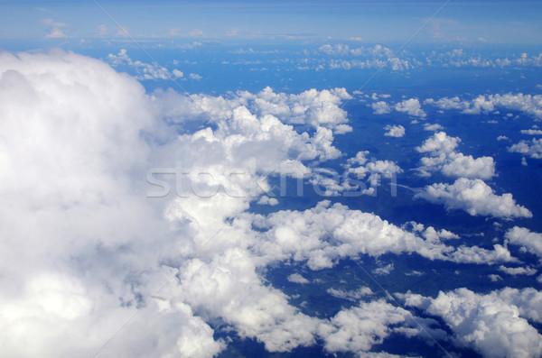 Nubi cielo blu sole bellezza spazio skyline Foto d'archivio © Pakhnyushchyy