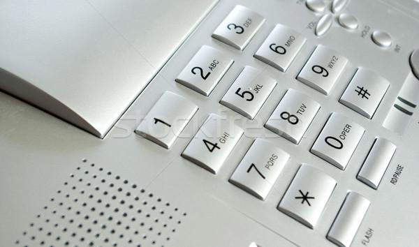 Telefon klavye büyük plan telefon anahtar Stok fotoğraf © Pakhnyushchyy