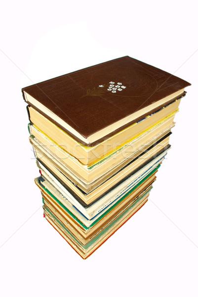 Kitaplar eski beyaz kitap hukuk bilim Stok fotoğraf © Pakhnyushchyy