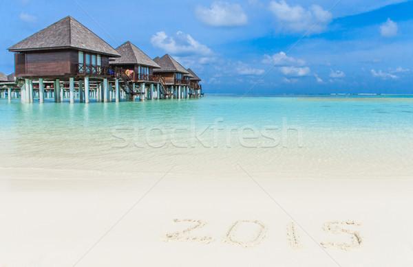 пляж воды природы морем синий песок Сток-фото © Pakhnyushchyy