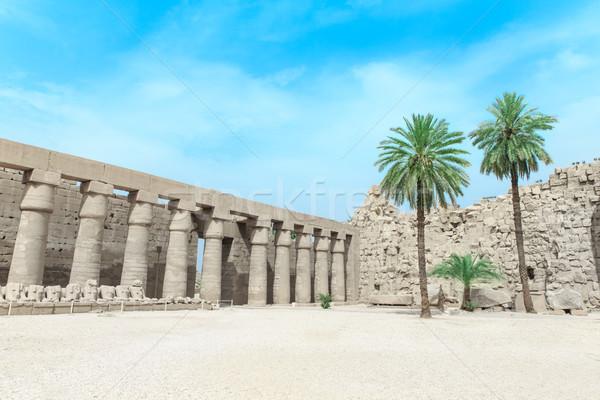 Afrika Luxor templom épület kék kő Stock fotó © Pakhnyushchyy