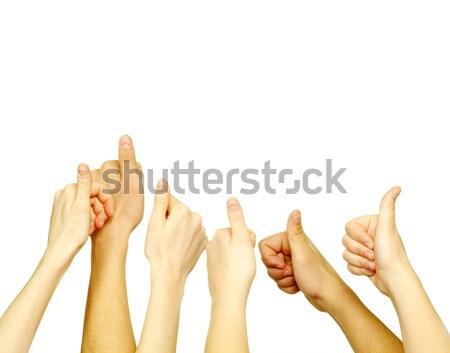 hand lifted up  Stock photo © Pakhnyushchyy