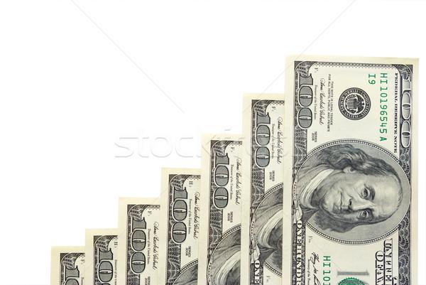 Geld hat weiß Papier Markt Dollar Stock foto © Pakhnyushchyy