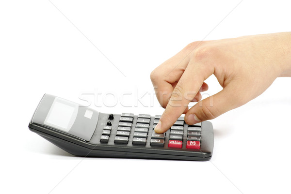 calculator with hand  Stock photo © Pakhnyushchyy