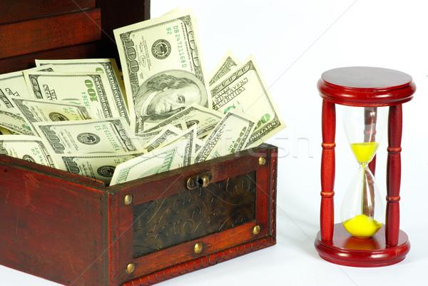 окна деньги бизнеса часы песок время Сток-фото © Pakhnyushchyy