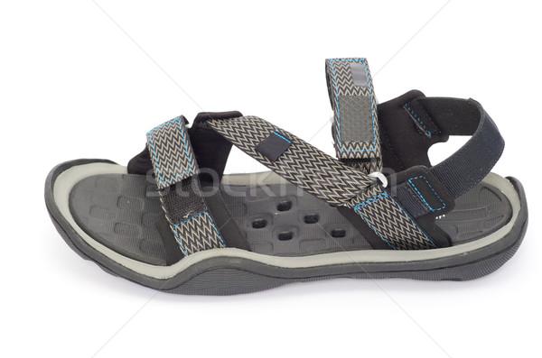 Sandales isolé blanche mode bleu amusement Photo stock © Pakhnyushchyy