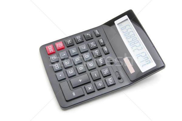 Bolsillo calculadora blanco negocios signo escritorio Foto stock © Pakhnyushchyy