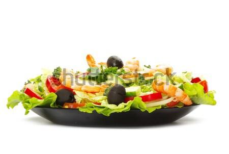 サラダ 食欲をそそる 白 食品 健康 レストラン ストックフォト © Pakhnyushchyy